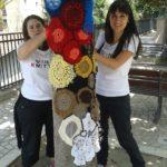 evento urban knitting per Mattia Preti