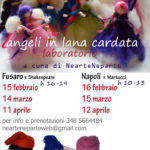 Laboratori di angeli in lana cardata