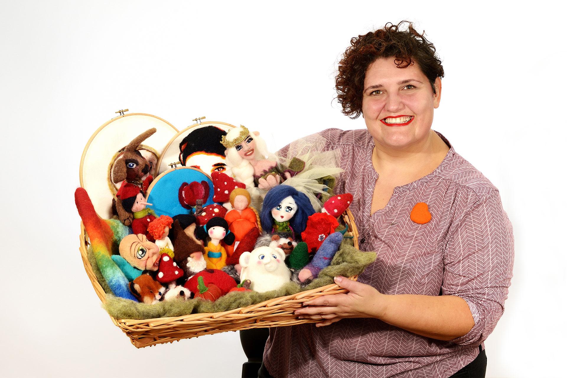 Anna Esposito, feltraia: Trasformo la lana cardata in oggetti