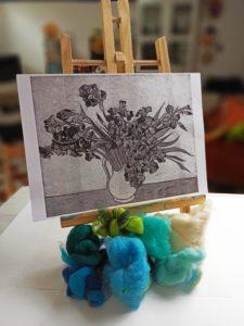 Bozzetto di Van Gogh per dipingere con la lana