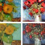 Dipingere con la lana cardata ispirandosi a Van Gogh- parte 2
