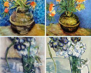 vasi dipinti con la lana ispirati a Van Gogh